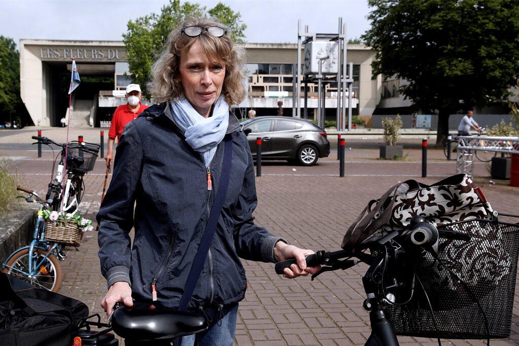 Annette Werkmeister setzte die Maske erst zum Fahrradfahren wieder ab.