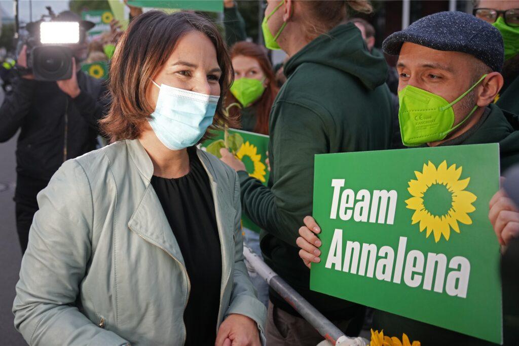 Annalena Baerbock, Spitzenkandidatin von Bündnis 90/Die Grünen und deren Parteivorsitzende